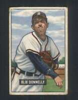 1951 Bowman #208 Blix Donnelly GVG Bos Braves 104889