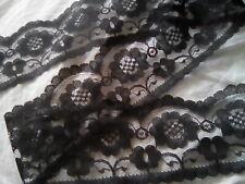 Black Lace - 2 metres - Width 72mm