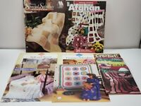 Lot of 10 assorted Crochet Patterns Booklets and cards (91-96) Vintage