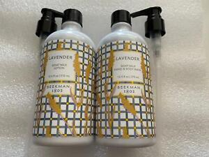 Set 2 Beekman 1802 Goat Milk Hand Wash & Hand Lotion Lavender with Pump Sealed