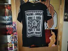Last Kings Tyga Egyptian print Hip Hop Rap Men's T-Shirt Sz M Black White Medusa