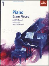 ABRSM Piano Exam Pieces 2017 2018 Syllabus Grade 1 Sheet Music Book Tests Songs