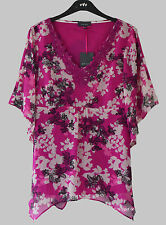 Chiffon V Neck Classic Floral Tops & Shirts for Women