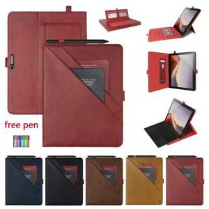 """For Microsoft Surface Pro 4 5 6 7 12.3"""" Leather Wallet Shockproof Case Cover"""