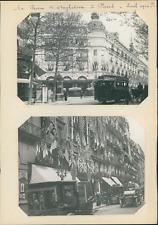 France, Paris, pendant le séjour du roi Georges V et la reine d'Angleterre