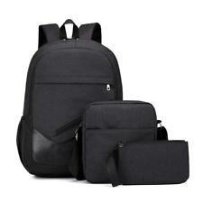 3PCS Men Women Boys Girls Backpack School Shoulder Bag Book bags Oxford Cloth
