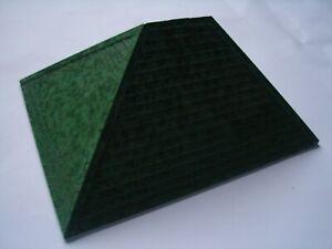 "RARE PRE-WAR SMALL GREEN BAKELITE BAYKO ROOF 6"" X 4"" X 3.25"" [15 X 11.5 X 8.5CM]"