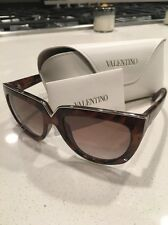 New Womens Valentino Sunglasses Big Square Havana V661S Round Brown Mottled