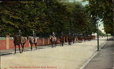 Newmarket. Racehorses Returning from Exercise, Fordham Road # 85 by Parr & Son.
