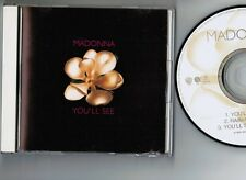 "MADONNA You'll See JAPAN 3-track 5"" MAXI CD WPCR-556 w/PS  No OBI Free S&H/P&P"