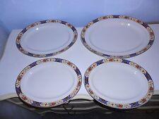 4 Vintage Bridgwood Anchor China Floral Oval Serving Platters England