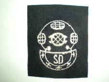 US NAVY SCUBA DIVER RATING BADGE - BLACK ON WOOL