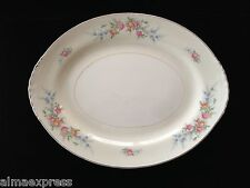 "Homer Laughlin China FERNDALE N1577 Eggshell Nautilus 11"" OVAL SERVING PLATTER"