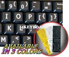 English UK LARGE LETTERING Keyboard Sticker black