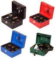 Geldkassette Wertkassette Münz Spardose Dokumenten kassette box 15x13x8cm, 90015