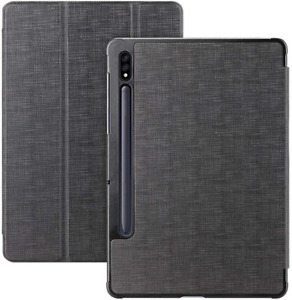 Samsung Galaxy Tab S7 Plus 12.4 Inch Case, with S Pen Holder, Smart Folio Cover
