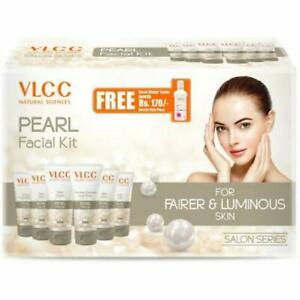 VLCC Salon Series Pearl Facial Kit with Free Rose Water Toner For Luminous Skin