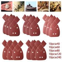 50x Feuilles de ponçage 40-240 grains abrasifs sable abrasif paume noire Decker