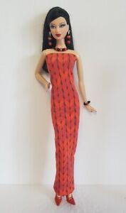 Model Muse Barbie Clothes DRESS & JEWELRY Fashionistas Fashion NO DOLL d4e