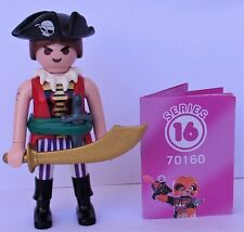 Playmobil  Mystery Series 16 Girls  Pirate Buccaneer   #70160  Mint Condition