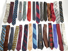 Lot of 25 Vintage Skinny Tie Ties - most/all under 3 inches wide   (lot 3)