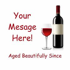 Personalised Wine Coasters, Beer Mats, 21st 30th 40th 50th 60th Birthday