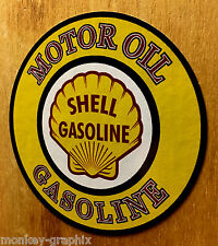 Shell Oldschool Motoroil ADESIVI Hotrod Sticker Vintage Rockabilly Muscle Car