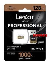 Lexar 128GB 1000x 150MB/s Micro SD SDXC Class10 UHS-II U3 USB3.0 Reader GoPro