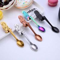 Flatware Dinnerware Long Handle Mermaid Spoon Stainless Steel Coffee Spoons