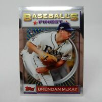 2020 Topps Finest Flashbacks #180 Brendan McKay - Tampa Bay Rays RC