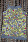 Girls Cami Tank Top GRAY YELLOW ABSTRACT CAMO Pink Flowers LACE TRIM Size M 7-8