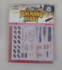 (HB) 3 OF Revell Pinewood Derby Dry Transfer Decals D/E/F RMXY9623/4/5 NIP