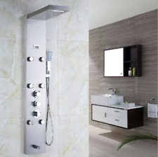 Bathroom Rainfall Shower Panel Rain Massage System Faucet with Jets Mixer Tap