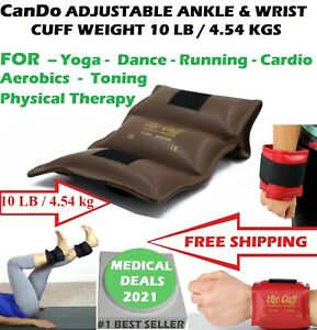 NEW ADJUSTABLE ANKLE & WRIST CUFF WEIGHT PHYSICAL THERAPY 10 LB (4.54KG) w/STRAP