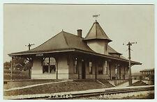 RARE - RPPC - Lehigh Valley Depot LV Station Spencer NY 1908 Real Photo Postcard