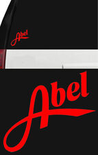 ABEL Fly Fishing Reel Outdoor Sports Vinyl Sticker Decal Truck Window Boat Red