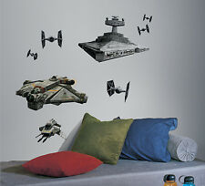 STAR WARS REBEL AND IMPERIAL SHIPS GianT WALL DECALS Space Ship Stickers Decor