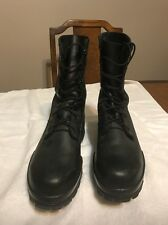 Bates 8.5 W US Navy DuraShocks Black Steel Toe Boot Leather Womens 8.5W