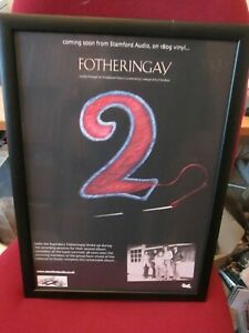 Fotheringay 2 Stamford Audio Limited PROMO Poster for LP Sandy Denny