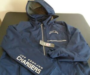 LOS ANGELES CHARGERS Football NFL Softshell Hooded Jacket Women's XXL 2XL Blue