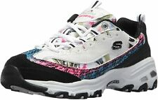 Skechers Women's D'Lites Runway Ready Leather Memory Foam Air Cooled Shoes 11918