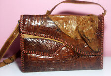Beautiful Alligator Skin Shoulder Bag Nicely Designed Made in Colombia Exc.Cond.