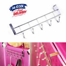 5 Hooks Coat AZ Bathroom Rack Home Shelf Over Door Hanger Kitchen Towel Holder