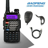 Baofeng UV-5R PLUS VHF/UHF Ham Two-way Radio + Original Speaker + USB Cable