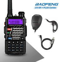 Baofeng *UV-5R PLUS* 2m/70cm VHF UHF +Original Speaker +Cable Ham Two-way Radio