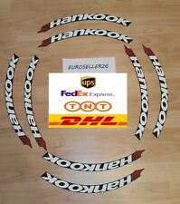 Permanent Tire Lettering stickers Hankook 1,25 ' 15'16'17'18'19'20(10 DECAL KİT