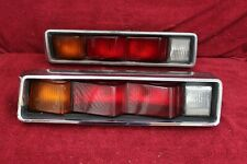 74-78 Datsun B210 HB hatch back taillight pair w/bezels OEM used