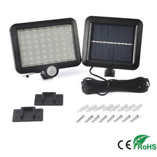 LED Solar Power PIR Motion Sensor Light Security Flood Outdoor Garden Path Lamp