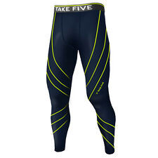 Take Five Mens Skin Tight Compression Base Layer Running Pants Leggings NP534