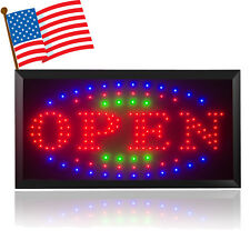 110/220V Bright Led Open Store Restaurant Business Bar Light Sign Neon Switch Us